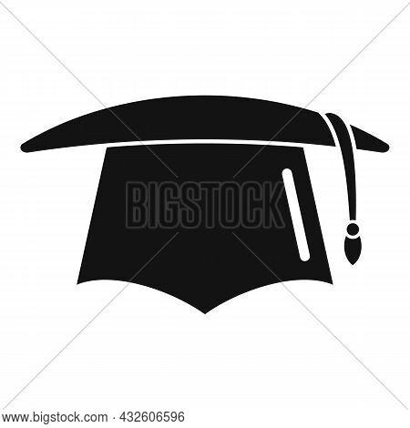Student Graduation Hat Icon Simple Vector. School Graduate. Academic Cap