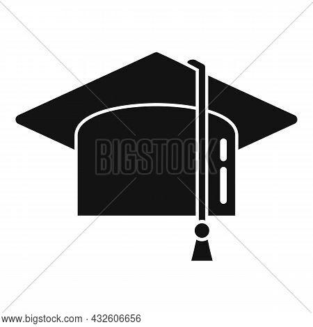 Academic Graduation Hat Icon Simple Vector. School Cap. College Diploma