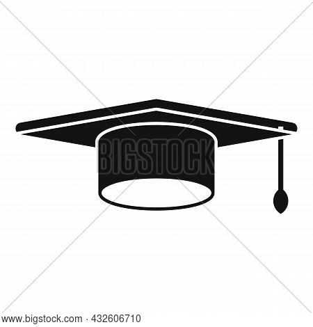 Grad School Hat Icon Simple Vector. College Diploma. Student Graduate