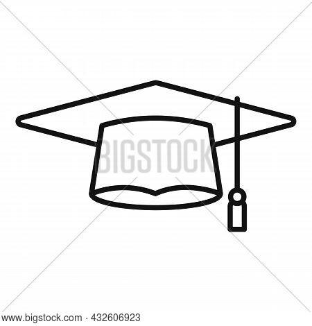 Academic Graduation Hat Icon Outline Vector. School Cap. College Diploma
