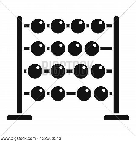 Mathematics Abacus Icon Simple Vector. Math Calculator. Wooden Toy