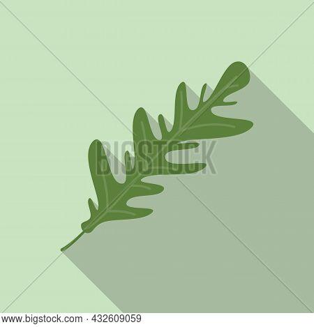 Arugula Plant Icon Flat Vector. Rucola Salad. Spinach Leaf