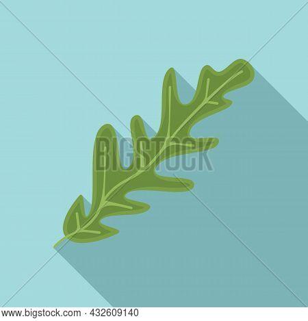 Rucola Leaf Icon Flat Vector. Arugula Plant. Vegetable Leaf