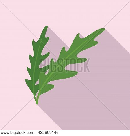 Rucola Plant Icon Flat Vector. Vegetable Arugula. Leaf Salad