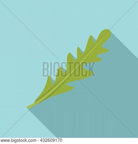 Ruccola Salad Icon Flat Vector. Arugula Leaf. Vegetable Plant