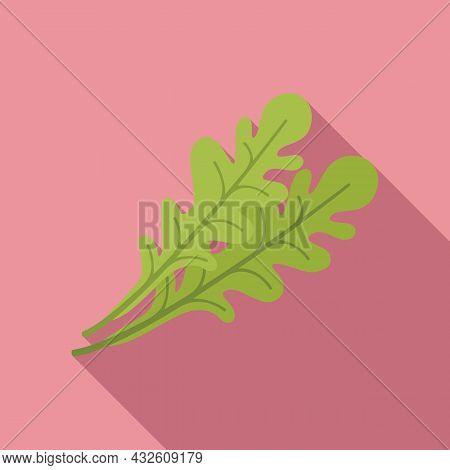 Ruccola Leaf Icon Flat Vector. Arugula Salad. Vegetable Plant