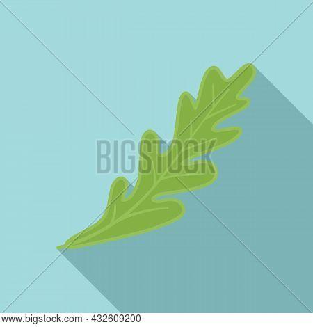 Rucola Icon Flat Vector. Salad Plant. Leaf Vegetable