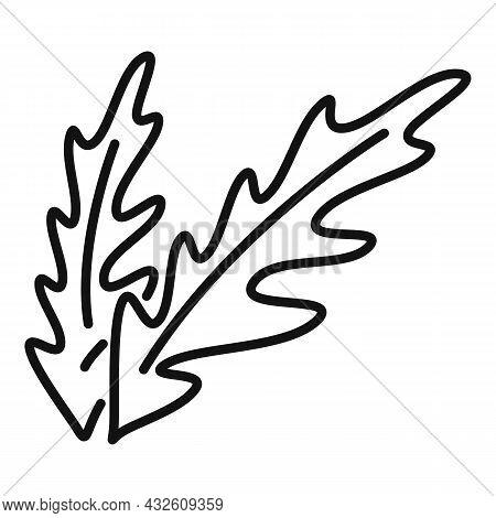 Rucola Plant Icon Outline Vector. Vegetable Arugula. Leaf Salad