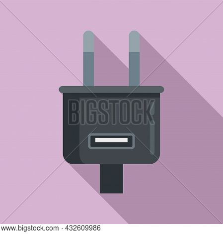 Charger Plug Icon Flat Vector. Charge Phone. Cell Mobile