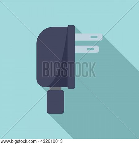 Mobile Cell Charger Icon Flat Vector. Charge Phone. Energy Plug