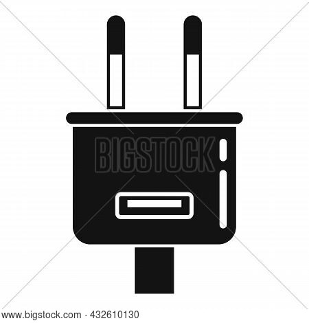 Charger Plug Icon Simple Vector. Charge Phone. Cell Mobile