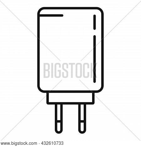 Charger Energy Icon Outline Vector. Phone Charge. Cell Mobile