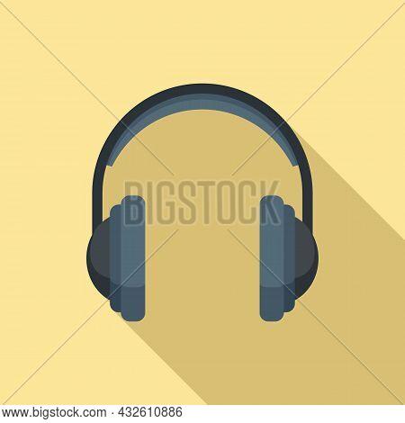 Headphone Icon Flat Vector. Gamer Headset. Customer Service