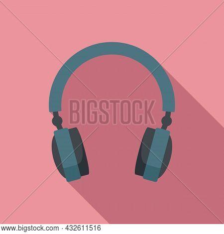 Gaming Headset Icon Flat Vector. Gamer Headphone. Customer Microphone
