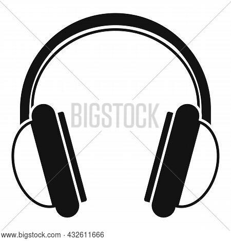 Game Headset Icon Simple Vector. Headphone Microphone. Customer Gamer