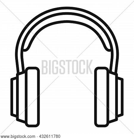 Customer Headset Icon Outline Vector. Gamer Microphone. Service Center