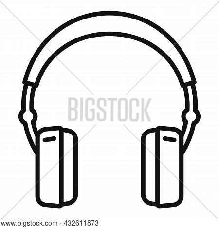 Care Headset Icon Outline Vector. Gamer Microphone. Call Support