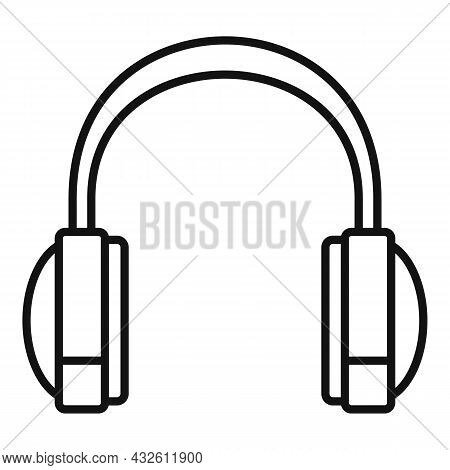 Headset Sales Icon Outline Vector. Gamer Microphone. Support Call