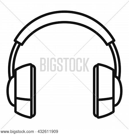 Audio Headset Icon Outline Vector. Gamer Service. Call Support