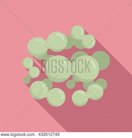 Prebiotic Microbe Icon Flat Vector. Bacteria Probiotic. Good Bacterium
