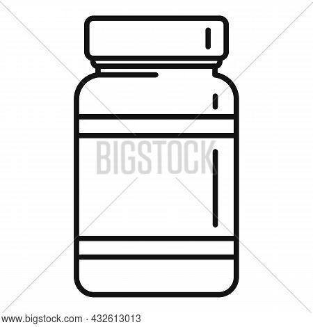 Probiotic Pills Icon Outline Vector. Lactobacillus Bacteria. Gut Bacterium