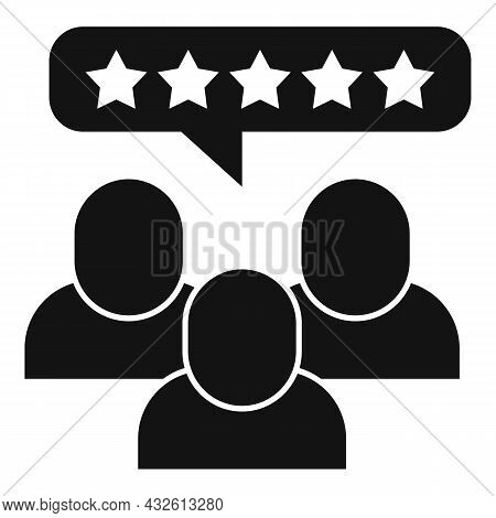 Customer Product Review Icon Simple Vector. Online Evaluation. Star Feedback