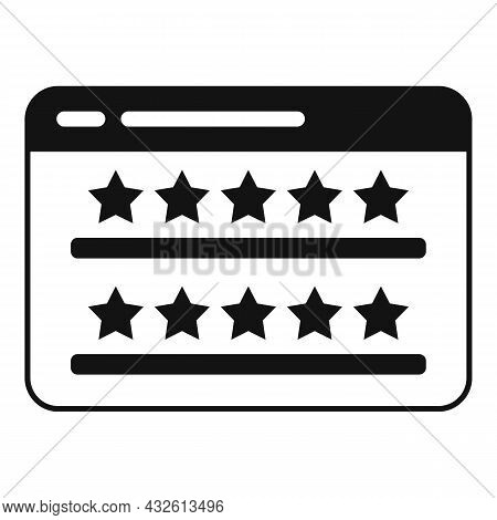 Web Site Product Review Icon Simple Vector. Online Evaluation. Customer Star