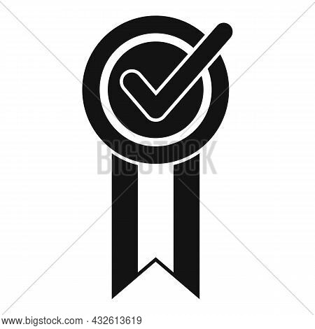 Approved Feedback Icon Simple Vector. Online Evaluation. Star App