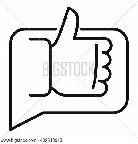 Thumb Up Product Evaluation Icon Outline Vector. Star Feedback. Online Customer