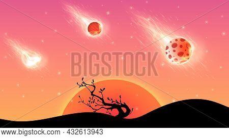 3 Sunset Background