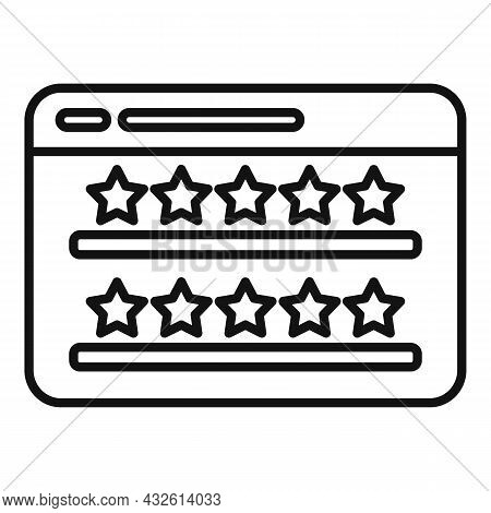 Web Site Product Review Icon Outline Vector. Online Evaluation. Customer Star