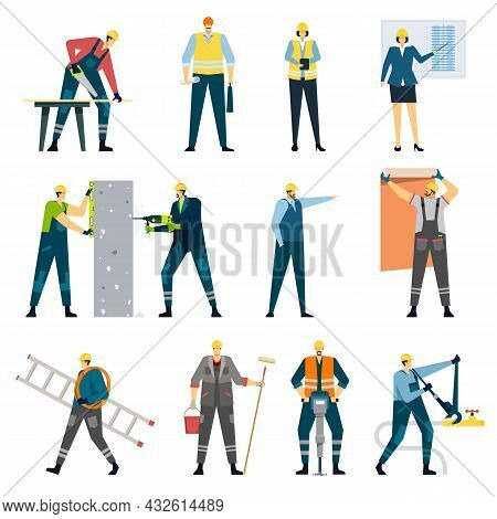 Building Construction Worker, Contractor, Engineer, Architect, Builder. Professional Maintenance, Ho