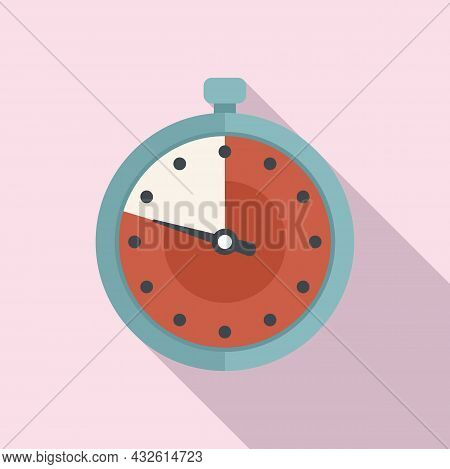 Second Stopwatch Icon Flat Vector. Watch Timer. Countdown Clock