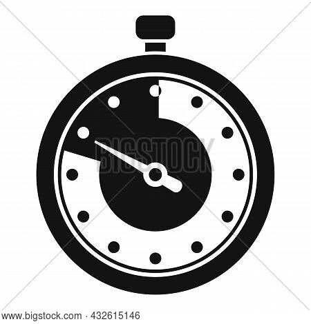 Second Stopwatch Icon Simple Vector. Watch Timer. Countdown Clock