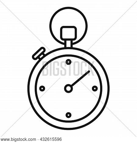 Stopwatch Interval Icon Outline Vector. Stop Clock. Watch Timer