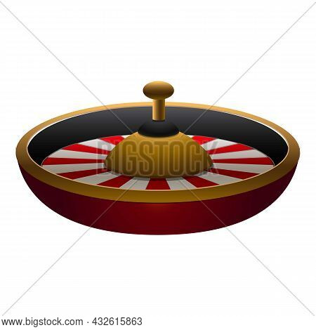 Fortune Roulette Icon Cartoon Vector. Gold Game. Lucky Spin