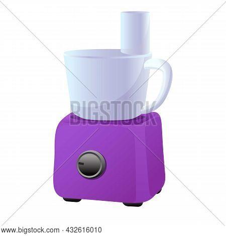 Food Mixer Icon Cartoon Vector. Kitchen Food Processor. Cooking Blender