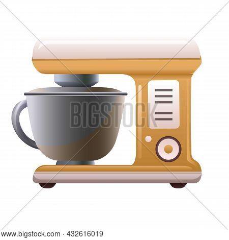 Food Machine Icon Cartoon Vector. Kitchen Mixer. Blender Processor