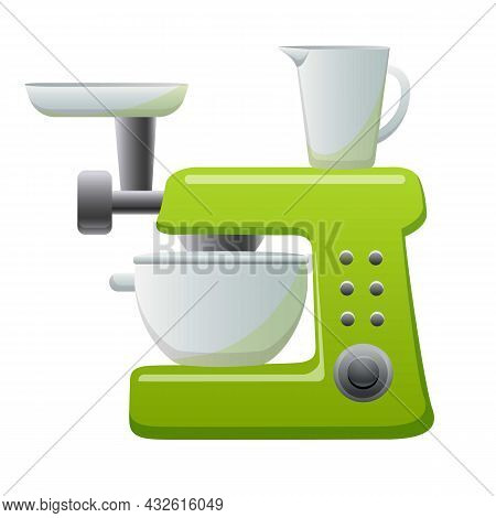 Mixer Cooking Machine Icon Cartoon Vector. Food Processor. Kitchen Blender