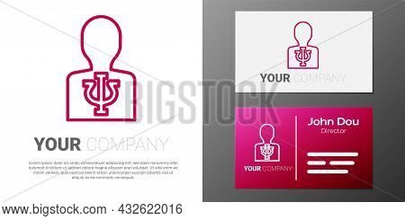 Logotype Line Psychology Icon Isolated On White Background. Psi Symbol. Mental Health Concept, Psych