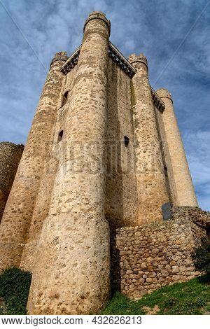 Medieval Castle Of Valencia De Don Juan, León, Castilla Y León, Spain.