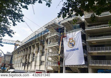Madrid, Spain - September 10, 2021. Santiago Bernabéu Stadium In Its Reform To Have A New Stadium, I