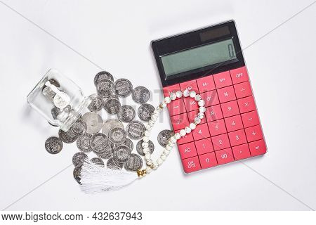 Concept Of Islamic Finance On White Background. Sharia-compliant Finance - Banking Or Financing Acti