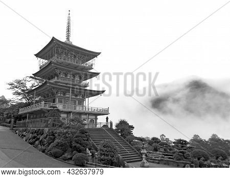 Gorgeous Three-storey Pagoda Of Seigantoji Temple, Historic Place In Wakayama Prefecture, Japan In M