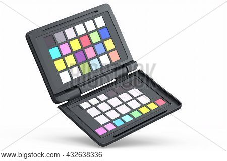 Rainbow Color Palette Or Colorchecker Calibration Passport For Post Production