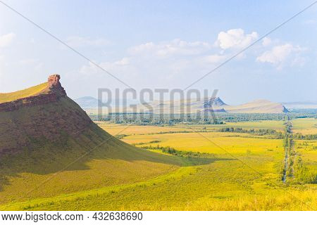 Summer Bright Landscape Of The Sunduki Mountain Range Located In The Valley Of The Bely Iyus River I