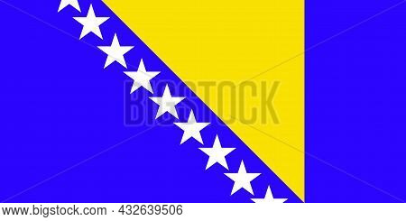The National Flag Of Bosnia And Herzegovina In Europe