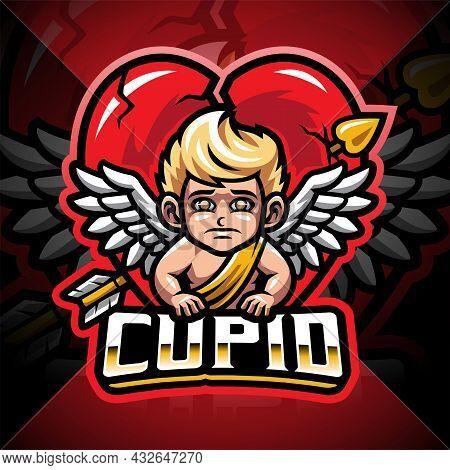 Cupid Esport Mascot Logo Design With Text