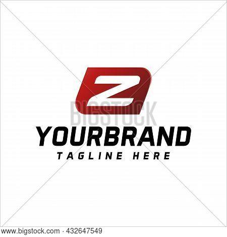 Letter Z Logo Minimalist Design Template On White Background