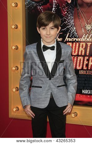 LOS ANGELES - MAR 11:  Mason Cook arrives at the World Premiere of